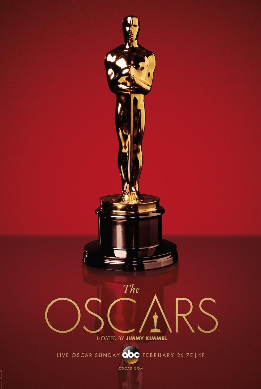Oscar-Figur auf ABC-Werbeplakat