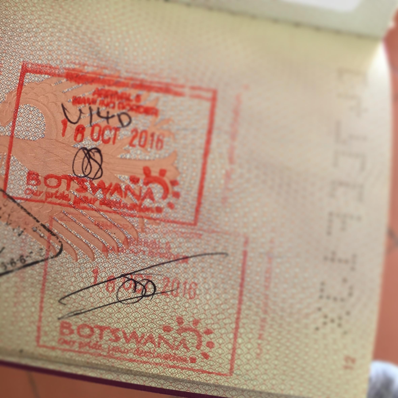 Mein Reisepass freut sich über Stempfel